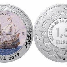 Monedas de Felipe VI: ESPAÑA 1,5 EURO 2019 GALEÓN ESPAÑOL S. XVII HISTORIA DE LA NAVEGACION 4ª SERIE. Lote 226125515
