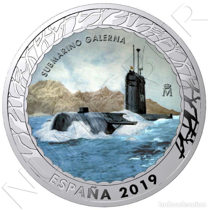 ESPAÑA 1,5 EURO 2019 SUBMARINO GALERNA - HISTORIA DE LA NAVEGACION 5ª SERIE (Numismática - España Modernas y Contemporáneas - Felipe VI)