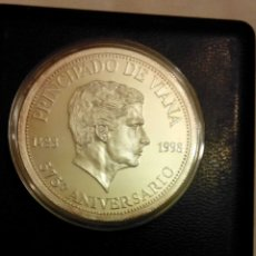 Monedas de Felipe VI: ESTUCHE ORIGINAL MONEDA DE PLATA DEL 575 ANIVERSARIO PRINCIPADO DE VIANA 1998. Lote 178207488