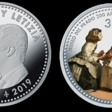 Monedas de Felipe VI: ESPAÑA 2019 BICENTENARIO DEL MUSEO DEL PRADO- LAS MENINAS DE VELAZQUEZ 30€ PLATA SC UNC. Lote 207065363