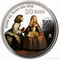 Monedas de Felipe VI: ESPAÑA 30 EURO PLATA 2018 LAS MENINAS - 200 AÑOS DEL MUSEO DEL PRADO. Lote 183055392