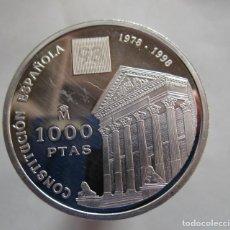 Monedas de Felipe VI: FNMT . CONSTITUCION ESPAÑOLA . 1000 PESETAS DE PLATA . AÑO 1998 . SIN CIRCULAR. Lote 184639767