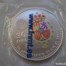 Monnaies de Felipe VI: 30 EUROS PLATA 2018 - 50 ANIVERSARIO DE SU MAJESTAD EL REY FELIPE VI.. Lote 189335575