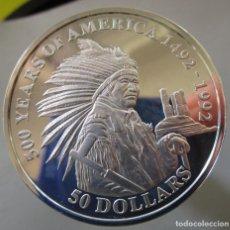 Monedas de Felipe VI: ISLAS COOK . 50 DOLARES DE PLATA EN CALIDAD FDC . TOTALMENTE NUEVA. Lote 189884517