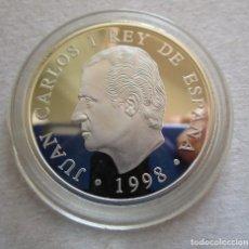 Monedas de Felipe VI: FNMT . JUAN SEBASTIAN ELCANO . 1000 PESETAS DE PLATA . AÑO 1998 . TOTALMENTE NUEVA. Lote 194526511