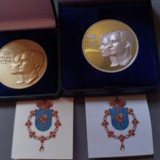 Monedas de Felipe VI: MEDALLAS CONMEMORATIVAS BODA FELIPE VI Y LETICIA. Lote 194690845