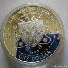 Monedas de Felipe VI: ISLAS CAYMAN . DOLAR DE PLATA EN CALIDAD PROOF .TOTALMENTE NUEVA .. Lote 194763248