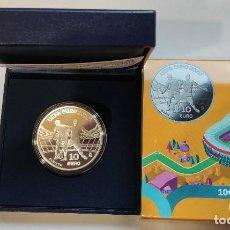 Monedas de Felipe VI: ESPAÑA 10 EURO PLATA 2020 PROOF 8 REALES UEFA EURO 2020. Lote 214411842