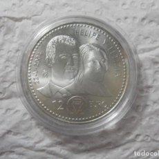 Monedas de Felipe VI: MONEDA PLATA 12 EUROS 2004. ENLACE MATRIMONIAL DEL PRÍNCIPE DE ASTURIAS. Lote 189650832