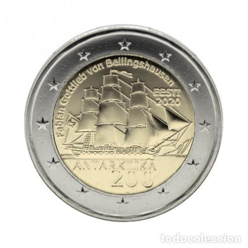 ESTONIA 2020 2€ 200 ANIVERSARIO DEL DESCUBRIMIENTO DE LA ANTÁRTIDA (Numismática - España Modernas y Contemporáneas - Felipe VI)