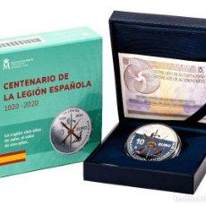 Monedas de Felipe VI: ESPAÑA: 10 EURO PLATA 2020 PROOF LA LEGION ESPAÑOLA 100 ANIVERSARIO. Lote 207220376