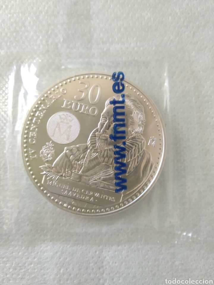 MONEDA DE PLATA 30 EUROS ESPAÑA 2016 IV CENTENARIO MIGUEL DE CERVANTES (Numismática - España Modernas y Contemporáneas - Felipe VI)