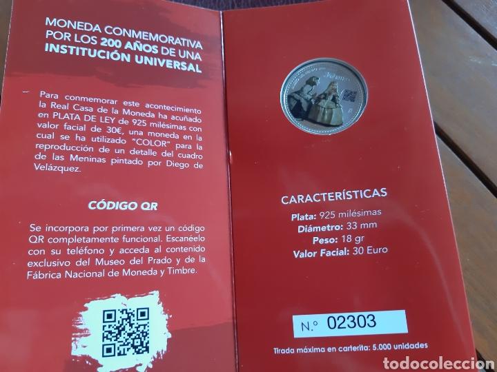Monedas de Felipe VI: Moneda de 30 € conmemorativa de los 200 años del museo del prado con codigo QR - Foto 2 - 213496605