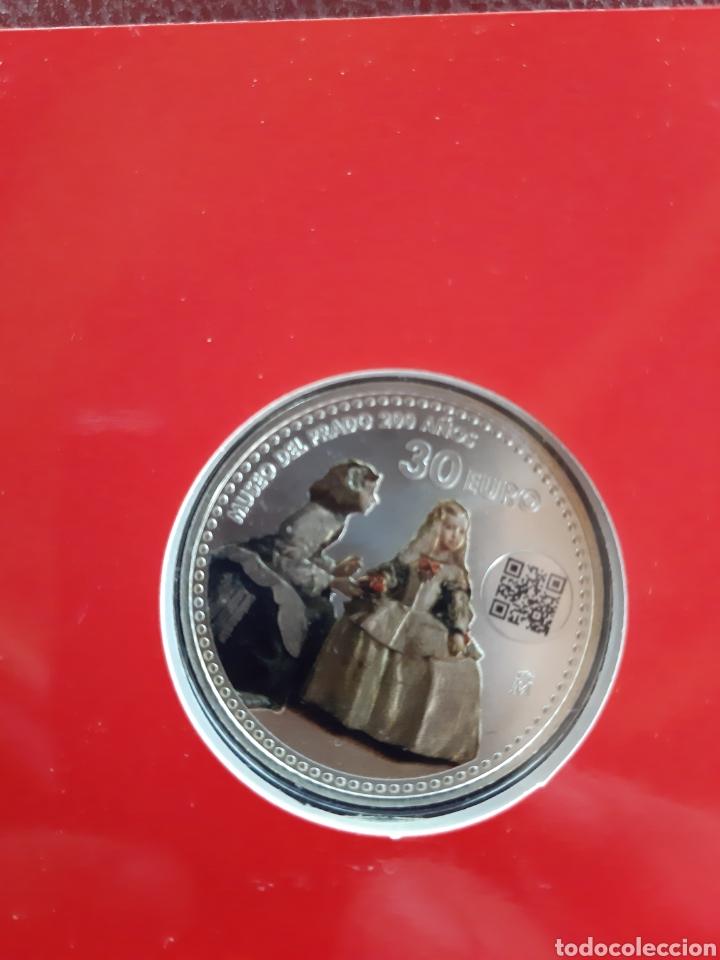Monedas de Felipe VI: Moneda de 30 € conmemorativa de los 200 años del museo del prado con codigo QR - Foto 3 - 213496605