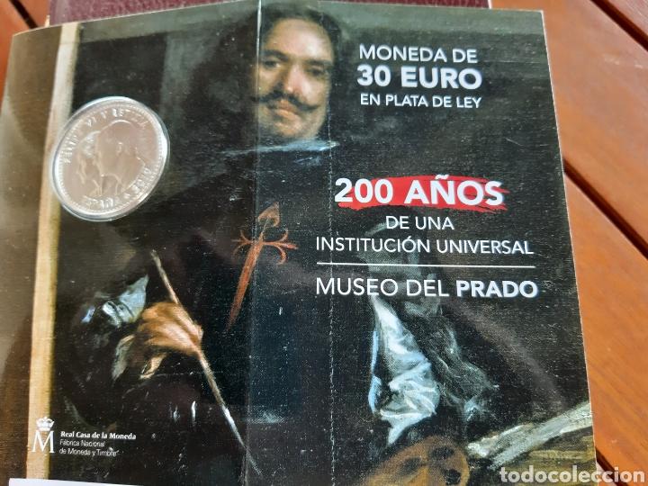 MONEDA DE 30 € CONMEMORATIVA DE LOS 200 AÑOS DEL MUSEO DEL PRADO CON CODIGO QR (Numismática - España Modernas y Contemporáneas - Felipe VI)