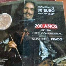 Monedas de Felipe VI: MONEDA DE 30 € CONMEMORATIVA DE LOS 200 AÑOS DEL MUSEO DEL PRADO CON CODIGO QR. Lote 213496605