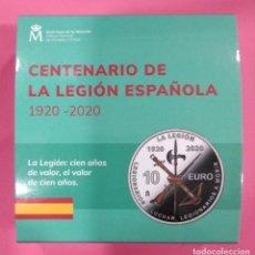 Moedas de Felipe VI: MONEDA ESPAÑA CENTENARIO DE LA LEGIÓN ESPAÑOLA 1920-2020 PLATA. Lote 216490557