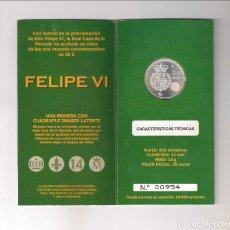 Monete di Felipe VI: CARTERA NUMERADA DE FELIPE VI DE 30 EUROS DE 2014. PLATA. PROCLAMACIÓN DE FELIPE VI. SIN CIRCULAR.. Lote 180946357