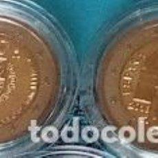 Monedas de Felipe VI: 2 EUROS ESPAÑA 2018-LOTE*JUEGO DE 2 MONEDAS CONMEMORATIVAS*-SANTIAGO Y 50 ANV. FELIPE VI-EN CAPSULA-. Lote 242924395