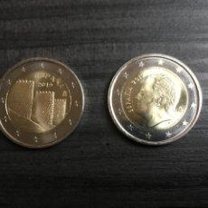 Monnaies de Felipe VI: LAS 2 MONEDAS DE DOS EUROS DE ESPAÑA 2019. SIN CIRCULAR.. Lote 219037308