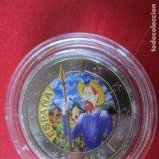 Monnaies de Felipe VI: ESPAÑA. 2 EUROS CONMEMORATIVOS 2005. ESMALTADOS QUIJOTE. Lote 219315995