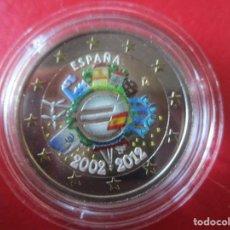 Monnaies de Felipe VI: ESPAÑA. 2 EUROS CONMEMORATIVOS 2012 ESMALTADOS 10 ANIV. INTRODUCION EURO. Lote 219359555