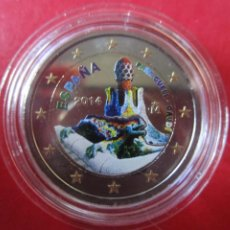 Monete di Felipe VI: ESPAÑA. 2 EUROS CONMEMORATIVOS 2014 ESMALTADOS PARQUE GUELL. GAUDI. Lote 219360301