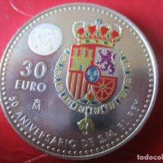 Monete di Felipe VI: ESPAÑA. MONEDA DE 30 EUROS DE PLATA AÑO 2018. 50 ANIVERSARIO DEL REY. Lote 219580537