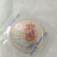 Monete di Felipe VI: MONEDA DE PLATA 30 EUROS ESPAÑA 2018 50 ANIVERSARIO DE S.M. EL REY. Lote 241546015