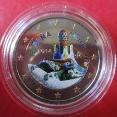 Monedas de Felipe VI: ESPAÑA. 2 EUROS CONMEMORATIVOS 2014 ESMALTADOS PARQUE GUELL. GAUDI. Lote 221534806
