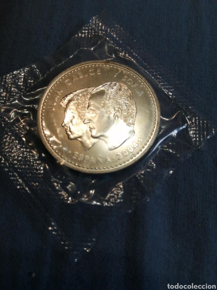 Monedas de Felipe VI: Moneda plata 12 € boda Príncipe de Asturias 2004 - Foto 2 - 222214730