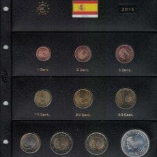 Monedas de Felipe VI: FELIPE VI AÑO COMPLETO 2015. SIN CIRCULAR. HOJA PARDO.. Lote 222580233
