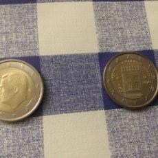 Monedas de Felipe VI: LAS 2 MONEDAS DE 2€, AÑO 2020. SIN CIRCULAR, PROCEDENTE DE CARTUCHO.. Lote 222610235