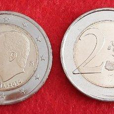 Monedas de Felipe VI: MONEDA 2 EUROS ESPAÑA AÑO 2014 REY CAMBIO DE TRONO SIN CIRCULAR NUEVA DE CARTUCHO ORIGINAL. Lote 271859068