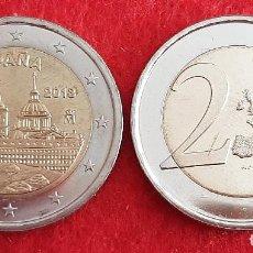 Monedas de Felipe VI: MONEDA 2 EUROS ESPAÑA 2013 CONMEMORATIVA EL ESCORIAL SIN CIRCULAR NUEVA DE CARTUCHO ORIGINAL. Lote 246326705