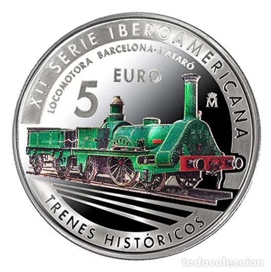 ESPAÑA 5 EURO PLATA 2020 XII SERIE IBEROAMERICANA - TRENES HISTORICOS (Numismática - España Modernas y Contemporáneas - Felipe VI)