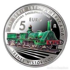 Monedas de Felipe VI: ESPAÑA 5 EURO PLATA 2020 XII SERIE IBEROAMERICANA - TRENES HISTORICOS. Lote 253774400