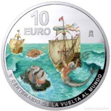 Monedas de Felipe VI: ESPAÑA 10 EURO PLATA 2020 PROOF V CENTENARIO DE LA VUELTA AL MUNDO - MULTICOLOR. Lote 230151935