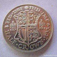 Monete di Felipe VI: REINO UNIDO . MEDIA CORONA DE PLATA ANTIGUA . AÑO 1933 . PIEZA DE LUJO. Lote 239372425