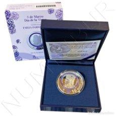 """Monedas de Felipe VI: ESPAÑA: 10 EURO PLATA 2021 PROOF 8 MARZO DIA DE LA MUJER """"EMILIA PARDO BAZAN"""". Lote 243606730"""