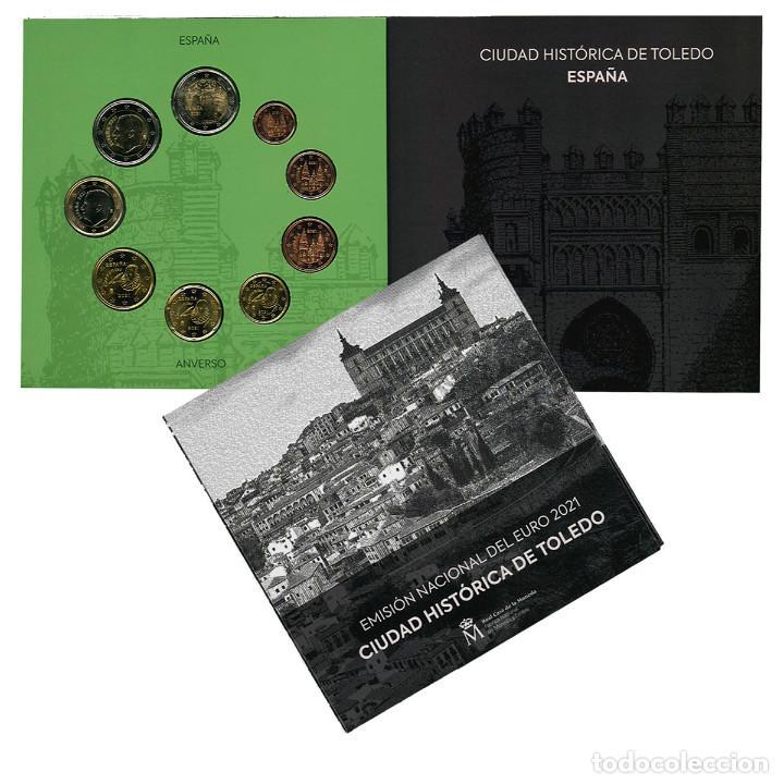 SET EUROS ESPAÑA 2021 FNMT - CARTERA OFICIAL CIUDAD HISTORICA DE TOLEDO (Numismática - España Modernas y Contemporáneas - Felipe VI)