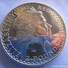 Monedas de Felipe VI: REINO UNIDO . 2 LIBRAS DE PLATA ESCASAS . BRITANNIA . TIRADA ESPECIAL . 32,45 GRAMOS. Lote 246838075