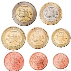 Monete di Felipe VI: SERIE / SET LITUANIA 2015 8 VALORES EUROS. Lote 247080925