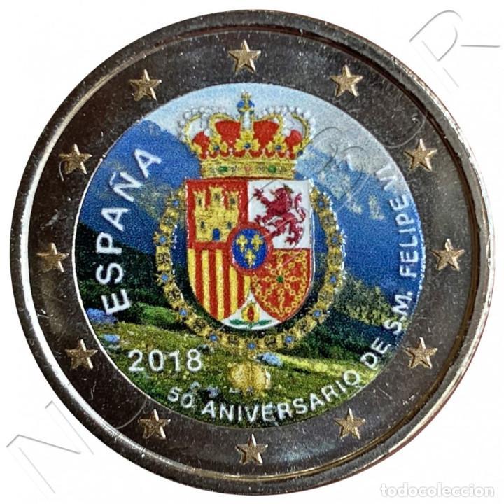 2€ ESPAÑA 2018 MULTICOLOR - 50 ANIVERSARIO DON FELIPE VI (Numismática - España Modernas y Contemporáneas - Felipe VI)