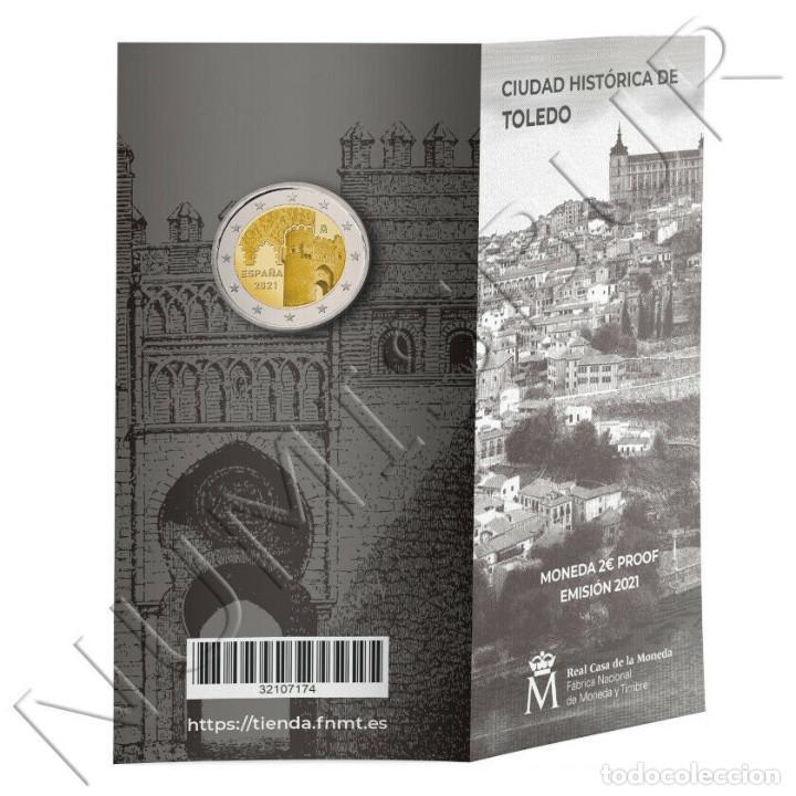 ESPAÑA CARTERITA OFICIAL 2 EURO 2021 CIUDAD HISTORICA DE TOLEDO PROOF (Numismática - España Modernas y Contemporáneas - Felipe VI)