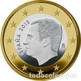 """1 EURO ESPAÑA 2021 """"FELIPE"""" SC (Numismática - España Modernas y Contemporáneas - Felipe VI)"""