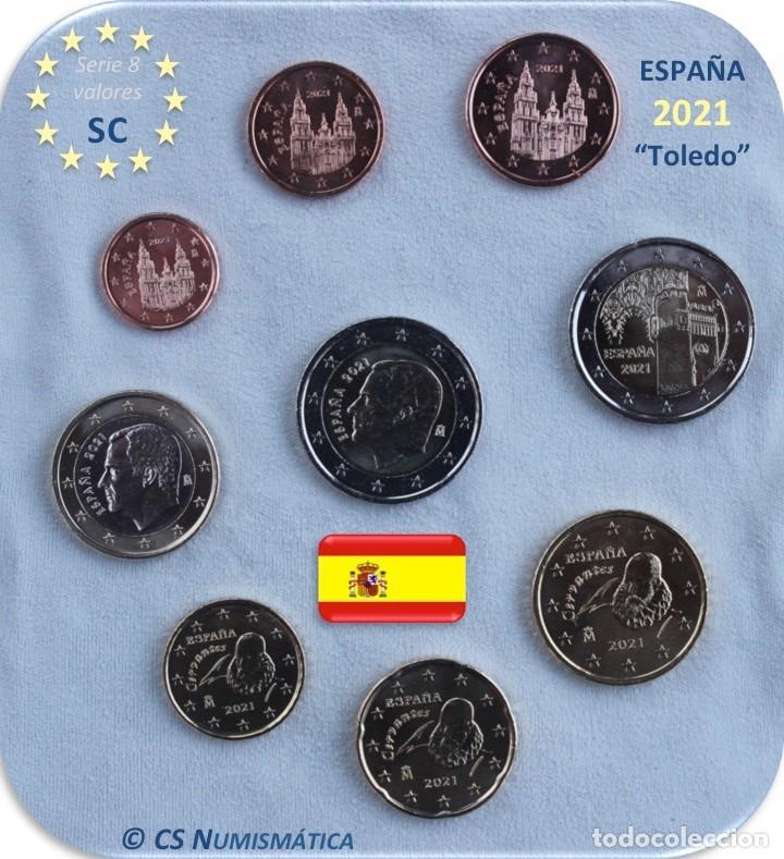"SERIE ESPAÑA 2021 SC + 2€ CONMEMORATIVA 2021 ""TOLEDO"" (Numismática - España Modernas y Contemporáneas - Felipe VI)"
