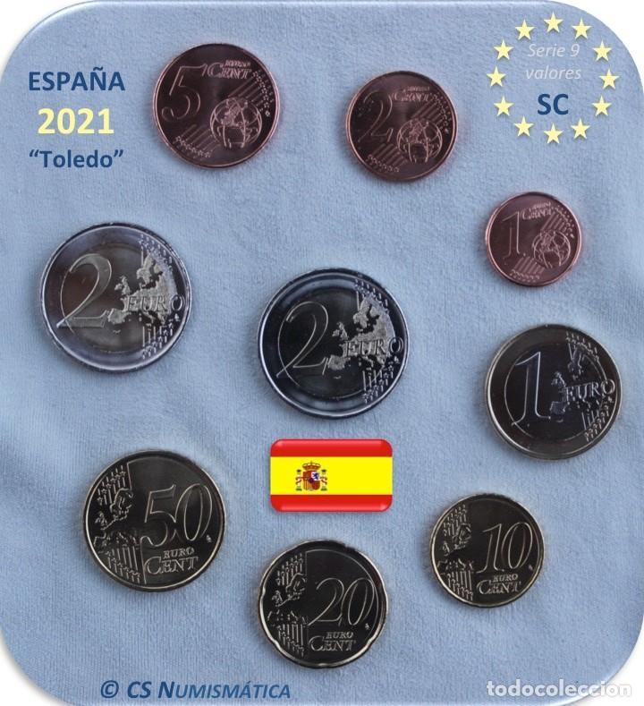 """Monedas de Felipe VI: Serie España 2021 SC + 2€ Conmemorativa 2021 """"Toledo"""" - Foto 2 - 254436640"""