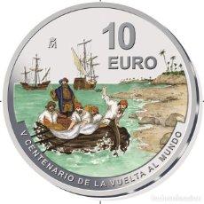 Monedas de Felipe VI: ESPAÑA 10 EURO PLATA 2021 PROOF V CENTENARIO DE LA VUELTA AL MUNDO - MULTICOLOR. Lote 267635184