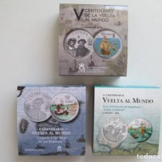 Monedas de Felipe VI: FELIPE VI * 10 EURO * V CENTENARIO DE LA VUELTA AL MUNDO 2019-20-21 * SERIE COMPLETA. Lote 274668373